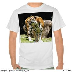 Bengal Tiger T Shirt - Click on photo to view item then click on item to see how to purchase that item.#tshirts #tiger #bengaltiger #recovery #therapy #heartattackrecovery #zazzle