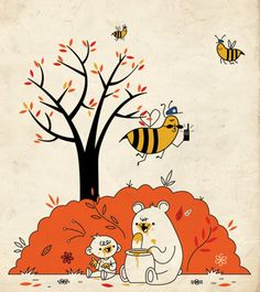 Honey Heist in the Land of the Giant Bees by skinnyandy, via Flickr