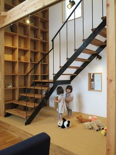 Floor to ceiling cubbies Interior Stairs, Interior Architecture, Interior Design, Minimal Home, House Inside, House Stairs, Staircase Design, Maine House, Floating Stairs