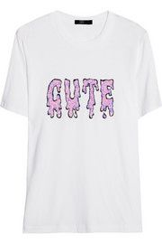Cute sequined cotton T-shirt
