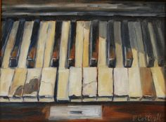 Old Piano Keys Canvas Print / Canvas Art by Patricia Cotterill