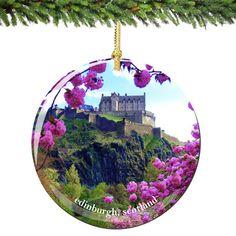 Edinburgh Scotland Christmas Ornament Porcelain