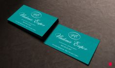 Business card by Olija Shumkova, via Behance