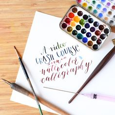 It's easiest to learn watercolor calligraphy when you can watch a video explaining its ins and outs! This video crash course will show you how it's done.