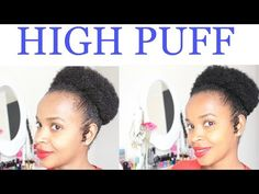 High Puff On Awkward Stage I Natural Hair - YouTube