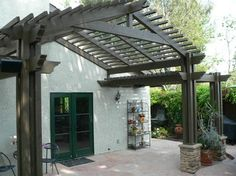 pergola with peaked roof line - Google Search