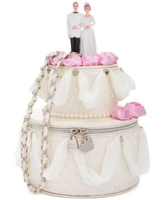 CUTEST wedding day purse!  Blue by Betsey Johnson Whole Cake Shoulder Bag