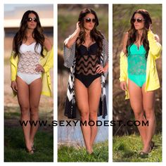 More darling new swimsuits just arrived! We love them all! www.sexymodest.com #beach #swimwear #vacation #swimsuit #summer