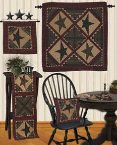 Cabin Star Tea Dyed Quilts - Country Quilts by Choice Quilts