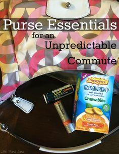 Purse essentials for an unpredictable commute. #BeHealthyForEveryPartofLife [ad]
