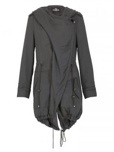 House of Fraser - David Barry Waterfall Parka Casual Jacket, Grey -…