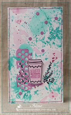 Carte free - tampon Chou & Flowers