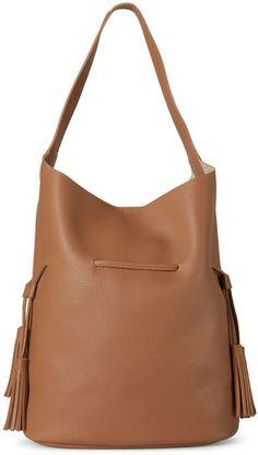 e2ec95387082 Street Level Tan Drawstring Bucket Bag Tote Purse