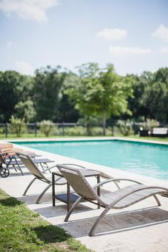 Summer in Château Béla, swimming pool, Slovakia 5 Star Hotels, Outdoor Furniture, Outdoor Decor, Sun Lounger, Swimming Pools, Traditional, Landscape, Luxury, Summer