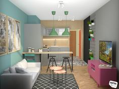 living room and kitchen - Rokytka