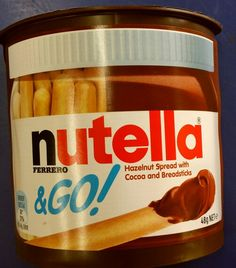 Nutella#Ferrero#Yum#Nutella&Go#Chocolate#Hazelnut# Spread#Breadsticks#Love#