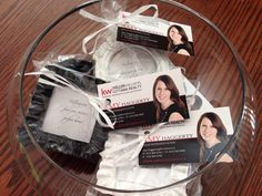 "Open house giveaways!  Frames say ""Helping you find your picture perfect home!""."