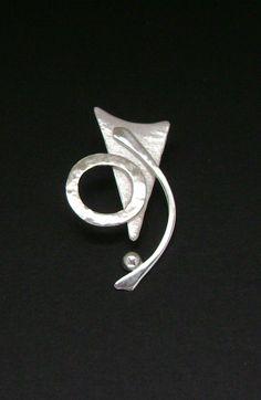 Sterling Silver Contemporary Pendant