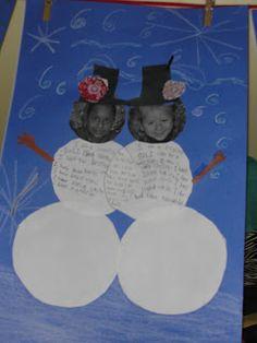 Compare and Contrast Snowmen Venn Diagram - read two books ... |Snowmen Venn Diagram