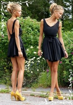 girls fashion trend Blacky Short Dress