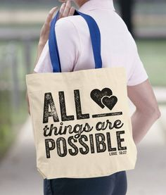 Dream Big Tote bag a bag for life shopping Reusable Carrier NOVELTY CUTE