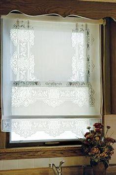 Lace Window Shades....wanna make something similar to this