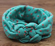 1 pieces Baby Printing Knot Hair Band Baby Girls Headband Ribbon Elasticity