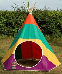 Colours Rock - Cool and funky play teepee tent for children. Great in the garden, on the beach or in the house....beautifully built to survive a lifetime of play, fun and games.