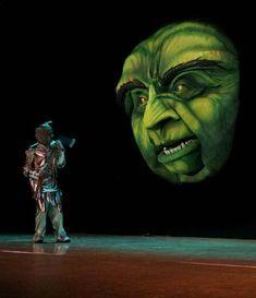 Giant foam Oz head puppet