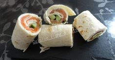 Recette de Wrap au saumon et au concombre par Cuisine light & autres. Facile et rapide à réaliser, goûteuse et diététique. Paninis, Love Eat, Love Food, Brunch, Tumblr Food, Snack Recipes, Healthy Recipes, Ramadan Recipes, Wrap Sandwiches