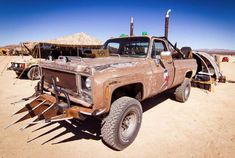 This bad-ass truck is loaded with a 454 big block, but what really impressed us was the bed loaded with not only tanks of gas but also water.