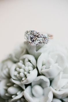 View entire slideshow: 13 Gorgeous 3-Stone Engagement Rings on http://www.stylemepretty.com/collection/2019/