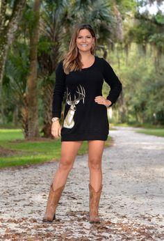 Sporty Girl Apparel - Black Deer Sweater Dress, $43.95 (http://www.sportygirlapparel.com/black-deer-sweater-dress/)
