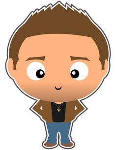Dean Winchester. The one and only. Which brother do you prefer? Dean or Sam? Check out all the other Supernatural clipart we've made in our new Etsy shop.