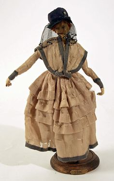 Doll  Lafitte Desirat  (French)  Date: 1911–16 Culture: French Medium: [no medium available] Dimensions: Height: 12 in. (30.5 cm) Credit Line: Gift of Claras, 1972 Accession Number: 1972.154.10