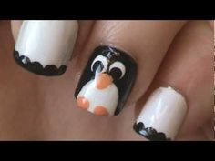 Here is a quick and easy penguin nail art tutorial. I chose to do the penguin on one nail and have the rest be white with a black dotted tip, but all nails would be cute too! Thanks for watching and please subscribe to see more nail art videos!    Music credit : Dan-o Songs    cute easy penguin nail art nails polish tutorial design how to simple