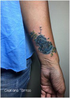 #flower tattoo #rose tattoo #blue rose tattoo #wrist tattoo #coverup tattoo #water color tattoo #chakana tattoo