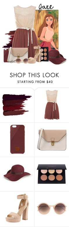 """Jane - Disney's Tarzan"" by rubytyra ❤ liked on Polyvore featuring Serge Lutens, Miss Selfridge, Native Union, 8, Topshop, Anastasia Beverly Hills, Stuart Weitzman and Linda Farrow"