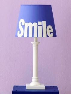 Cute Typography Lamp