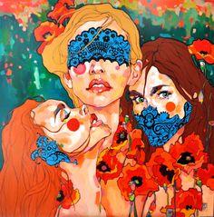 malarstwo | Dominik Jasiński  See no evil, hear no evil, say no evil