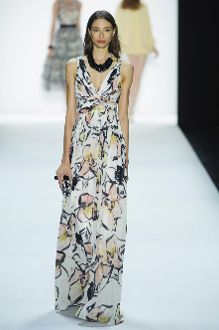Badgley Mischka Sleeveless Floral Evening Gown EG1854