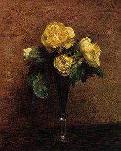 Flowers Roses Marechal Neil - Henri Fantin-Latour