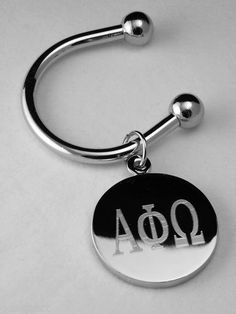 Alpha Phi Omega silver plate Greek letter key ring available in Good Things From Louisiana, an ebay store.