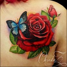 A picture my tattoo artist took after she finished so tired my sleep. deets to… A picture my tattoo artist took after she finished so tired my sleep. Bff Tattoos, Neue Tattoos, Family Tattoos, Body Art Tattoos, Sleeve Tattoos, Tatoos, Rose And Butterfly Tattoo, Pink Rose Tattoos, Butterfly Sketch