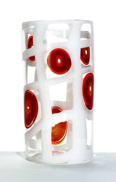 "Ann Wåhlström (Swedish), ""Madras VII"" Blown Glass Vase, 2006."
