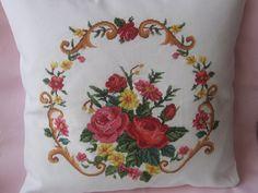 cross-stitch pillows