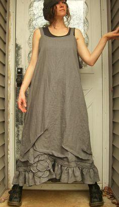 Long Flower Slip Dress