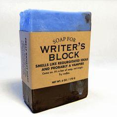 Soap for Writer's Block #writing #writersblock