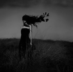 by Belina Starscream Photography Pics, Conceptual Photography, Artistic Photography, Dark Wings, Kiss Of Death, Wind In My Hair, Vintage Witch, Girl Photo Poses, Sad Girl