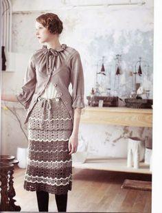 Inspirações de Croche com Any Lucy: Saia ou Vestido